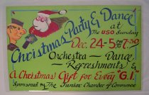 Image of 4541-475 - Poster, Xmas Party and Dance at USO; Homemade